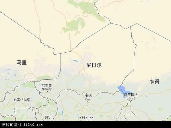 尼日尔地图 - 尼日尔电子地图 - 尼日尔高清地图 - 2016年尼日尔地图