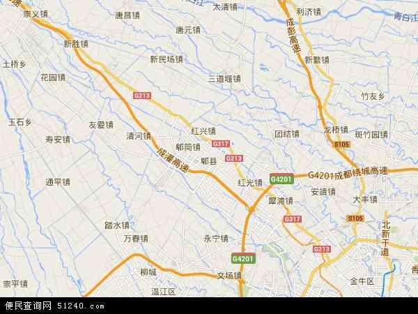 成都市电子地图_郫县地图 - 郫县卫星地图 - 郫县高清航拍地图