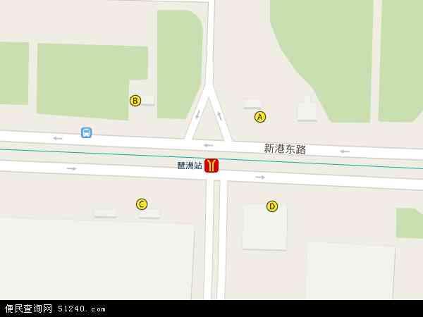 中国广东省广州市海珠区琶洲地图(卫星地图)