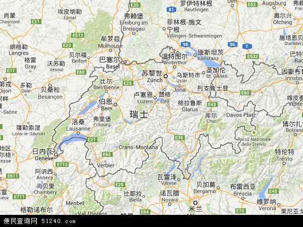 瑞士地图 - 瑞士电子地图 - 瑞士高清地图 - 2016年瑞士地图
