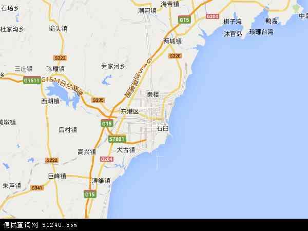 山东日照地图_日照市地图 - 日照市卫星地图 - 日照市高清航拍地图