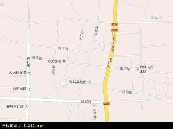 中国山东省菏泽市郓城县唐塔地图(卫星地图)