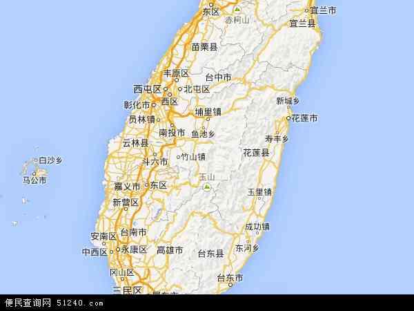 台湾地图 - 台湾电子地图 - 台湾高清地图 - 2019年台湾地图