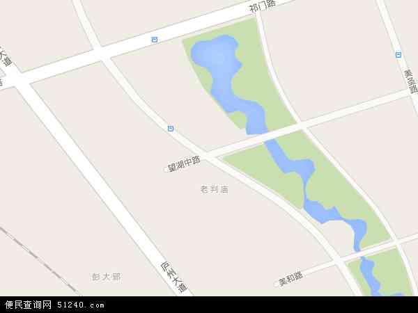 中国安徽省合肥市包河区望湖地图(卫星地图)