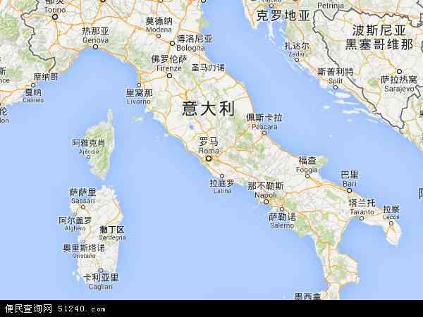 意大利地图(卫星地图)