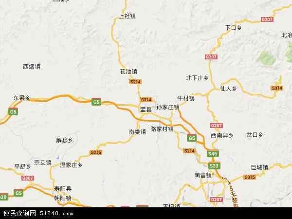 盂县地图 - 盂县卫星地图