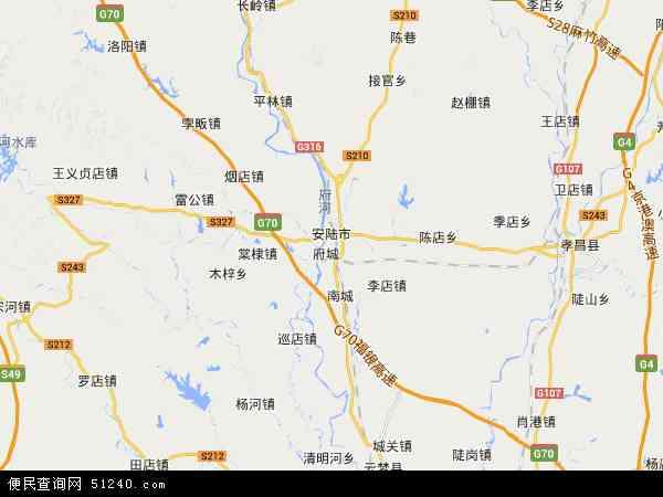 中国 湖北省 孝感市 安陆市  本站收录有:2017安陆市卫星地图高清版