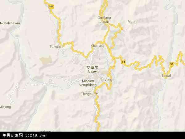 印度艾藻尔地图(卫星地图)