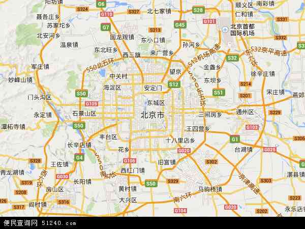 北京市地图 - 北京市卫星地图