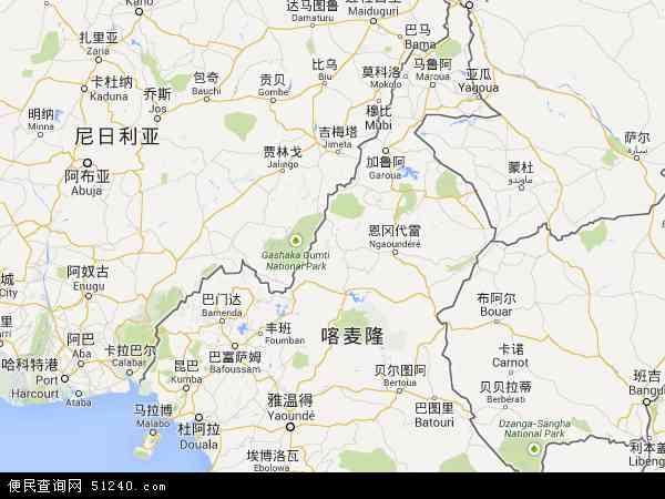 喀麦隆北端地图(卫星地图)图片