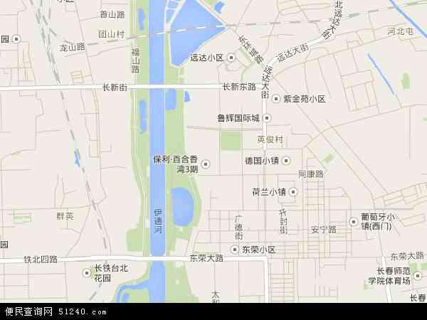 中国吉林省长春市二道区八里堡地图(卫星地图)图片