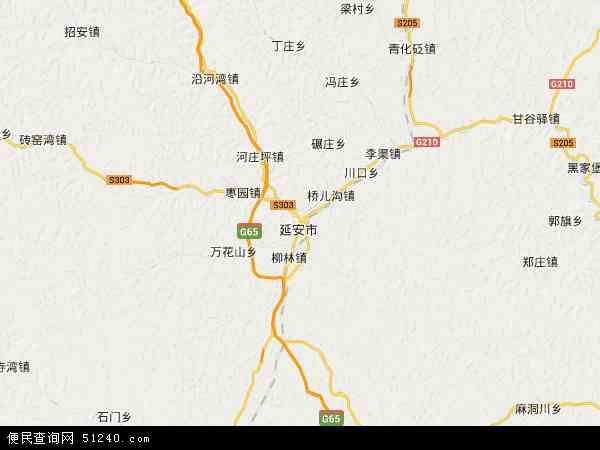 宝塔区地图 - 宝塔区卫星地图