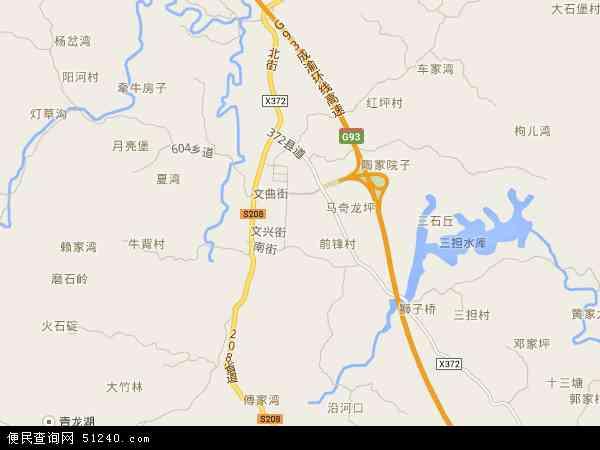 中国重庆市璧山县大路地图(卫星地图)