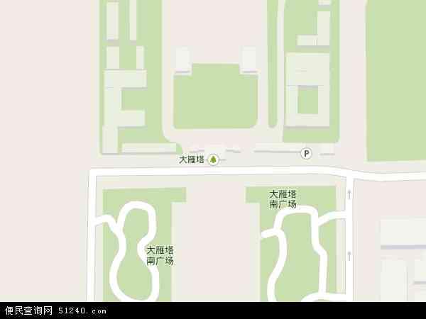 大雁塔地图 - 大雁塔卫星地图