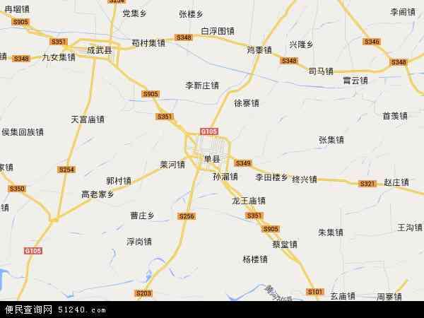 单县地图 - 单县卫星地图