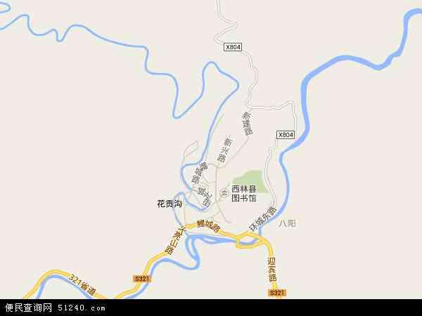 中国广西壮族自治区百色市隆林各族自治县德峨镇地图(卫星地图)