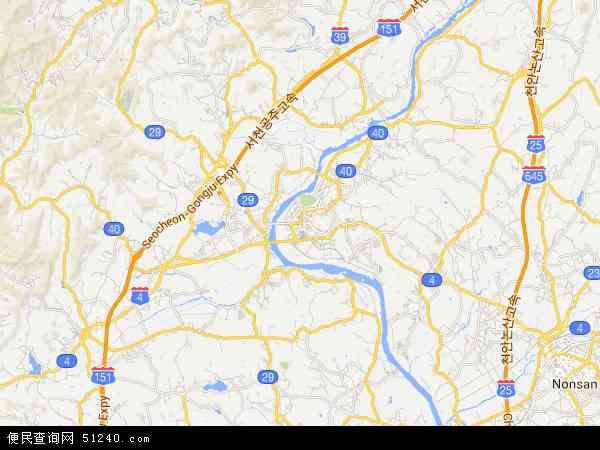 扶余郡地图 - 扶余郡卫星地图图片