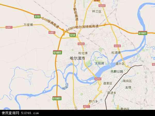 哈尔滨市地图 - 哈尔滨市卫星地图