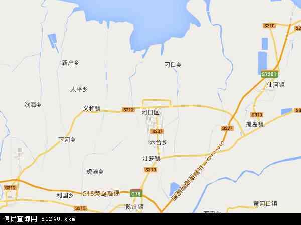 中国山东省东营市河口区地图(卫星地图)