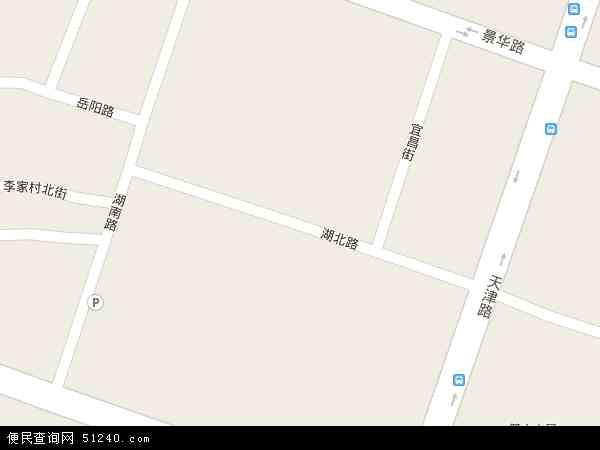 中国河南省洛阳市涧西区湖北路地图(卫星地图)图片