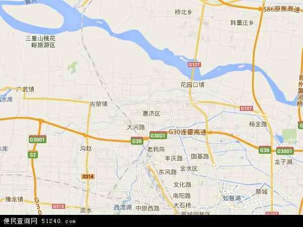 中国河南省郑州市惠济区地图(卫星地图)
