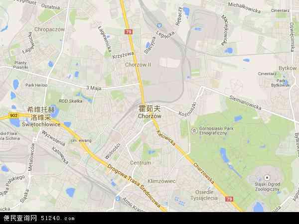 波兰霍茹夫地图(卫星地图)