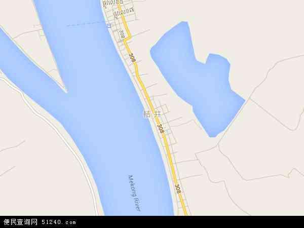柬埔寨桔井地图(卫星地图)