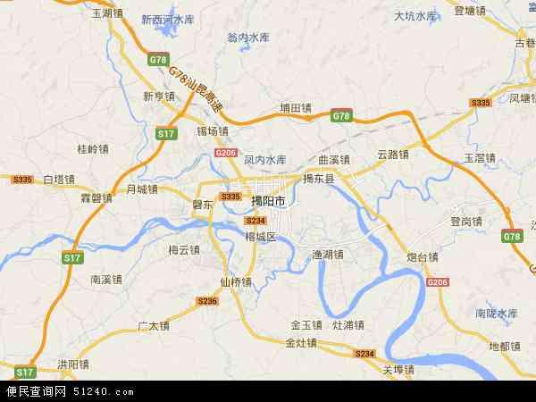 揭阳市地图 - 揭阳市卫星地图