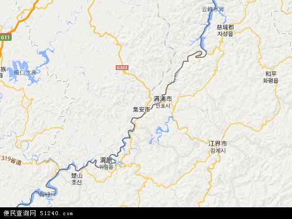 中国吉林省通化市集安市地图(卫星地图)