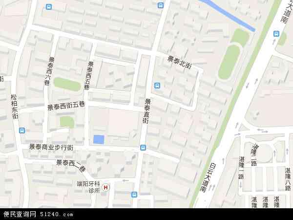中国广东省广州市白云区景泰地图(卫星地图)