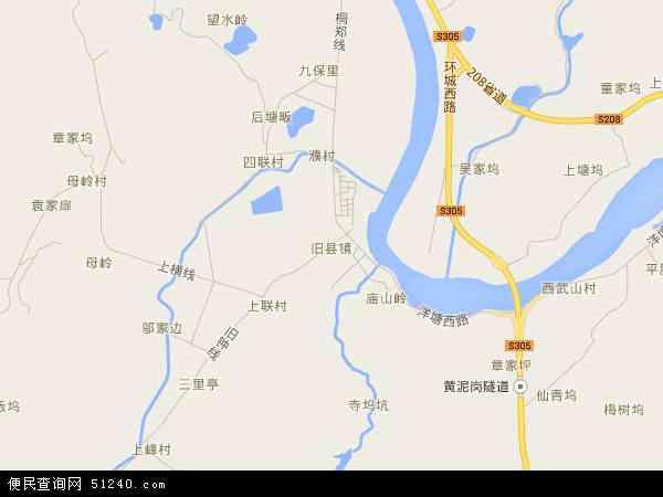 中国浙江省杭州市桐庐县旧县地图(卫星地图)