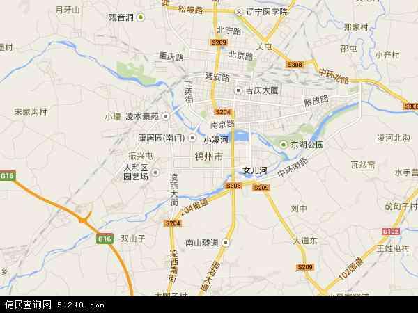 锦州市地图 - 锦州市卫星地图