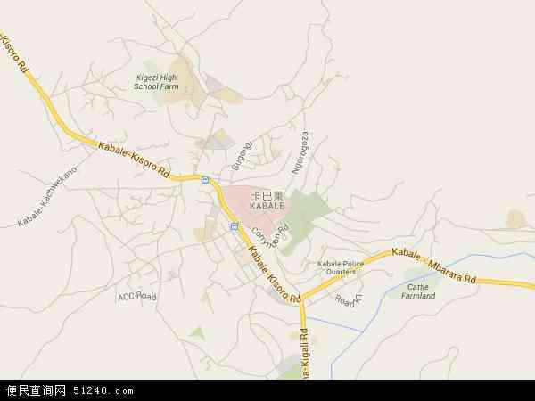 乌干达卡巴莱地图(卫星地图)