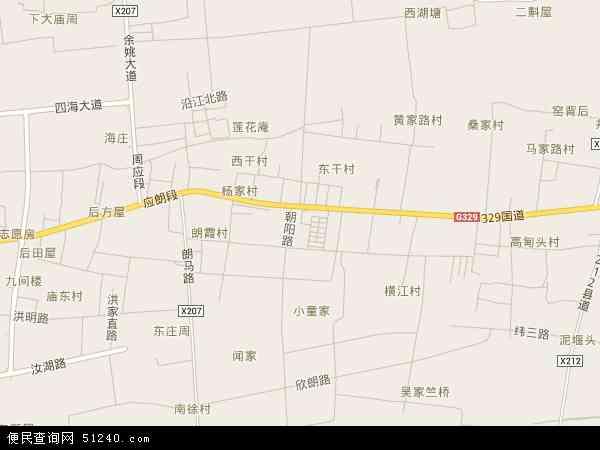 中国浙江省宁波市余姚市朗霞地图(卫星地图)