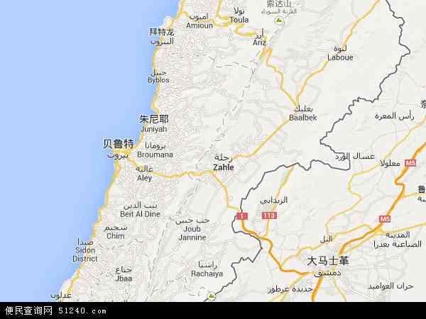 黎巴嫩地图 - 黎巴嫩电子地图 - 黎巴嫩高清地图 - 2016年黎巴嫩地图