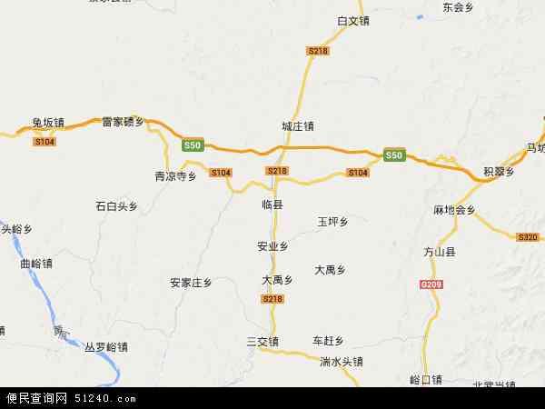 中国山西省吕梁市临县地图(卫星地图)