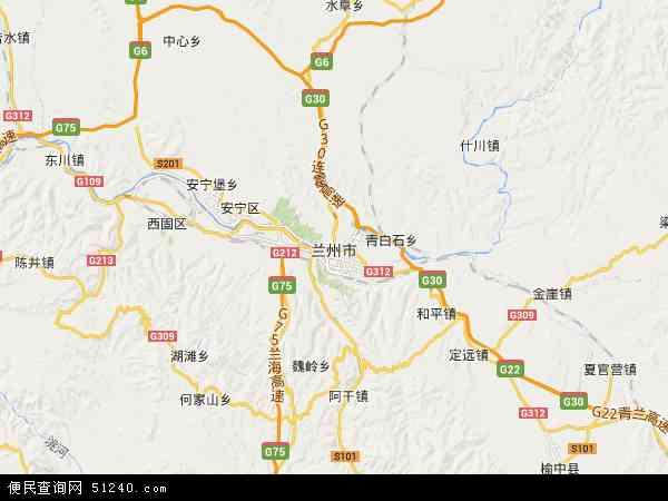 兰州市西固区地图_甘肃兰州市分几个区和县?-_大全网