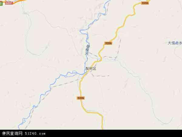 梨树区地图 - 梨树区卫星地图