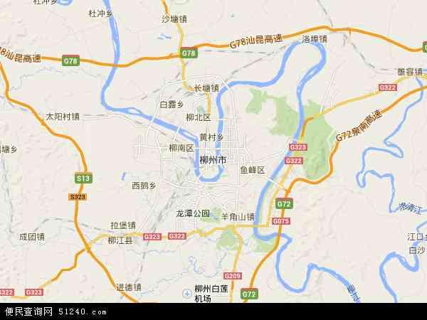 柳州市地图 - 柳州市电子地图