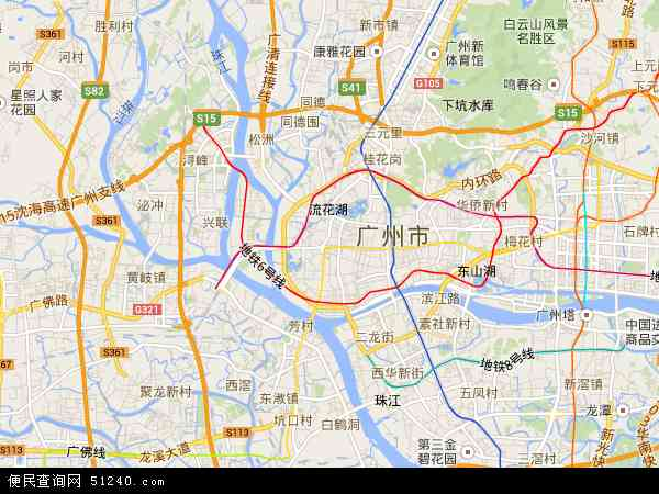 中國廣東省廣州市荔灣區地圖(衛星地圖)
