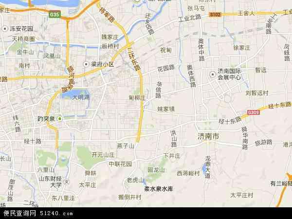 中国山东省济南市历下区地图(卫星地图)