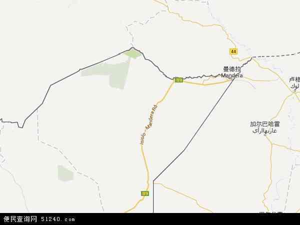 肯尼亚曼德拉地图(卫星地图)