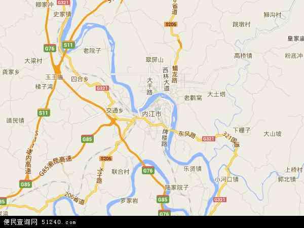 中国 四川省 内江市  本站收录有:2018内江市卫星地图高清版,内江市