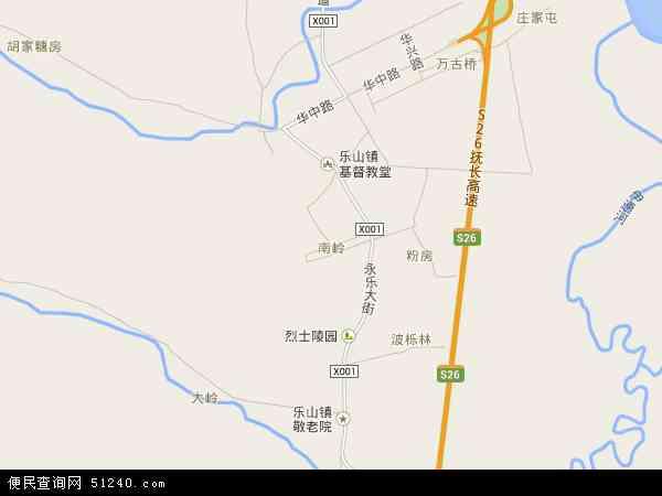 中国吉林省长春市南关区南岭地图(卫星地图)