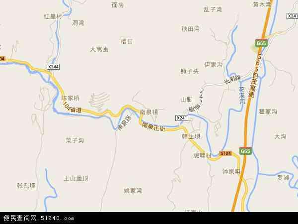 中国重庆市巴南区南泉地图(卫星地图)