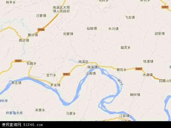 南溪区地图 - 南溪区卫星地图