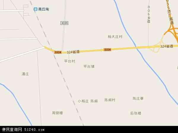 中国河南省商丘市梁园区平台地图(卫星地图)图片