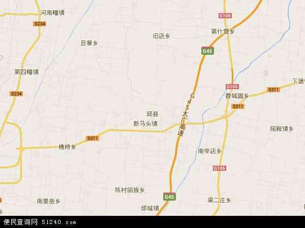 中国河北省邯郸市邱县地图(卫星地图)