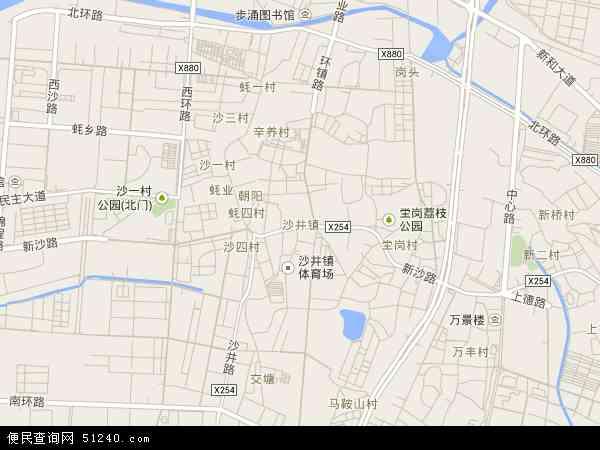 中国广东省深圳市宝安区沙井地图(卫星地图)