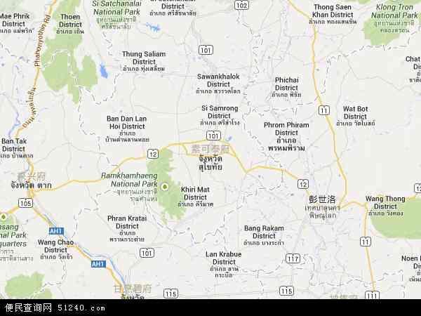 素可泰地图 - 素可泰卫星地图图片